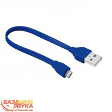 Адаптер Trust URBAN FLAT MICRO-USB CABLE 20cm BLUE (20140)