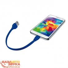Адаптер Trust URBAN FLAT MICRO-USB CABLE 20cm BLUE (20140), Фото 3