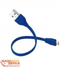 Адаптер Trust URBAN FLAT MICRO-USB CABLE 20cm BLUE (20140), Фото 4