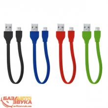 Адаптер Trust URBAN FLAT MICRO-USB CABLE 20cm BLUE (20140), Фото 8