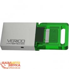 Флеш память Verico USB 8Gb Hybrid Mini Green