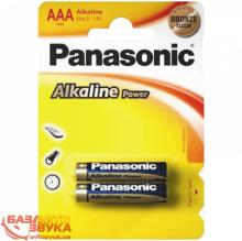 Элемент питания Panasonic ALKALINE POWER AAA BLI 2 (LR03REB/2BP)