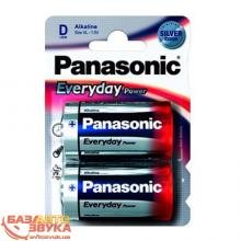 Элемент питания Panasonic EVERYDAY POWER D BLI 2 ALKALINE (LR20REE/2BR)