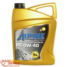 Моторное масло Alpine 0W-40 RS 5л
