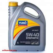 Моторное масло Yuko SYNTHETIC 5W-40 4л