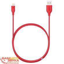 iPhone/iPod/iPad адаптер ANKER Powerline Lightning - 0.9м V3 (Red) (A8111H91)