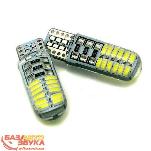 LED лампа iDial 478 T10 3014 24SMD/200LM 6000K 12V (2шт.): отзывы, характеристики и фото