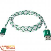 USB адаптер Defender ACH03-03LT USB(AM)-Lightning GreenLED backlight 87553