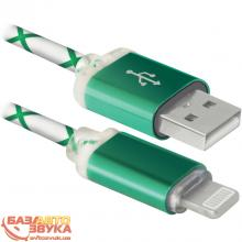 USB адаптер Defender ACH03-03LT USB(AM)-Lightning GreenLED backlight 87553, Фото 4