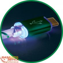 USB адаптер Defender ACH03-03LT USB(AM)-Lightning GreenLED backlight 87553, Фото 3