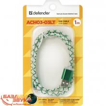 USB адаптер Defender ACH03-03LT USB(AM)-Lightning GreenLED backlight 87553, Фото 2