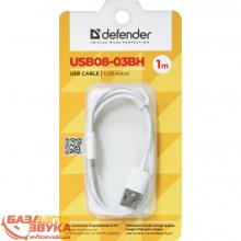 USB адаптер Defender USB08-03BH USB(AM)-MicroBM white 87477, Фото 2
