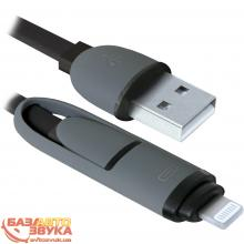 USB адаптер Defender USB10-03BP USB(AM)-MicroUSB+Lightning black 87488, Фото 4
