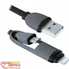USB адаптер Defender USB10-03BP USB(AM)-MicroUSB+Lightning black 87488, Фото 3