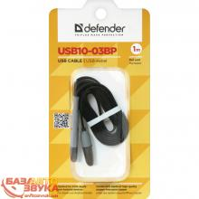 USB адаптер Defender USB10-03BP USB(AM)-MicroUSB+Lightning black 87488, Фото 2