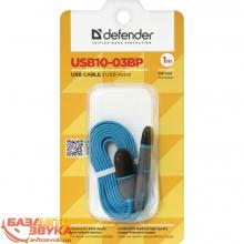 USB адаптер Defender USB10-03BP USB(AM)-MicroUSB+Lightning blue 87487, Фото 2