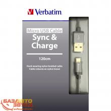 MicroUSB адаптер Verbatim Micro USB Cable Grey 48856, Фото 3