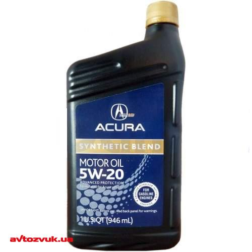 Моторное масло Acura Synthetic Blend 5W-20 0.946л (087989033): отзывы, характеристики и фото