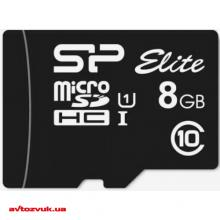 Флеш память Silicon Power MicroSDHC 8GB + SD adapter UHS-1 Elite class 10 SP008GBSTHBU1V10SP, Фото 2