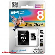 Флеш память Silicon Power MicroSDHC 8GB + SD adapter UHS-1 Elite class 10 SP008GBSTHBU1V10SP, Фото 3