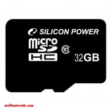 Флеш память Silicon Power MicroSDHC 32GB + SD adapter class 10 SP032GBSTH011V10SP, Фото 2