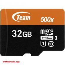 Флеш память Team MicroSDHC 32GB UHS-I Class 10 + SD adapter TUSDH32GUHS03, Фото 2