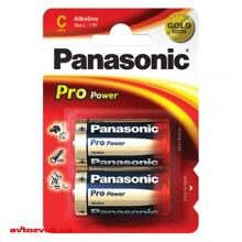 Батарейки Panasonic PRO POWER ALKALINE C BLI LR14XEG/2BP 2шт./уп.: Купить за 70 грн