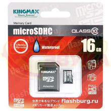 Флеш память Kingmax micro-SDHC 16GB CLASS10+adapter, Фото 2
