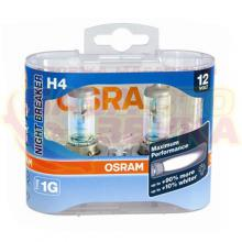 Галогенная лампа Osram H4 Night Breaker Plus 12V 60/55W (64193NBR) (2шт.), Фото 2