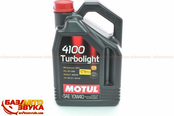 Моторное масло Motul 4100 Turbolight 10w40 4л - фото 8