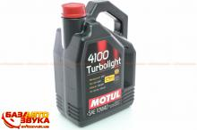 Моторное масло MOTUL 4100 Turbolight 10W-40 387607 4л, Фото 2