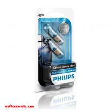 Лампа накаливания Philips BlueVision H6W 12V 12036BVB2 (2шт.)