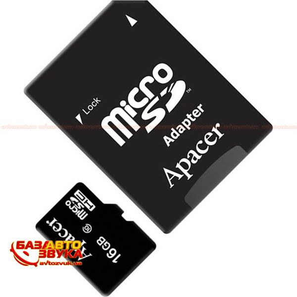 Флеш память Apacer microSDHC 16GB UHS-I Class 10  with adapter: отзывы, характеристики и фото