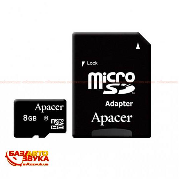 Флеш память Apacer microSDHC 8GB UHS-I Class 10 with adapter: отзывы, характеристики и фото