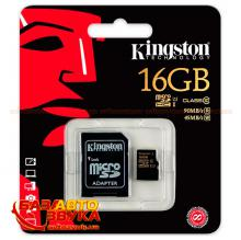 Флеш память Kingston MicroSDHC 16Gb UHS-1 Class10 with adapter, Фото 2