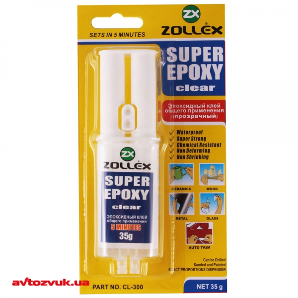 Клей Zollex Super Epoxy Clear CL-300 35г