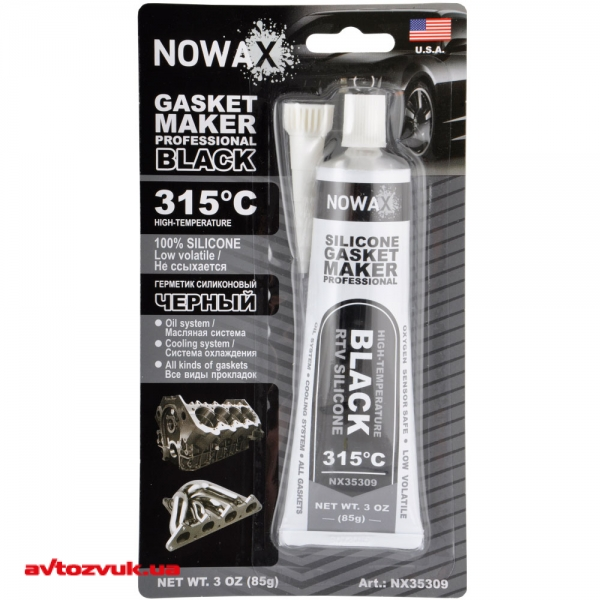 Герметик NOWAX GASKET MAKER BLACK NX35309 85г