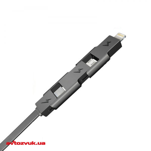 Кабель iPhone/iPod/iPad E-Power EP121DC 3в1 Lightning+microUSB+MiniUSB
