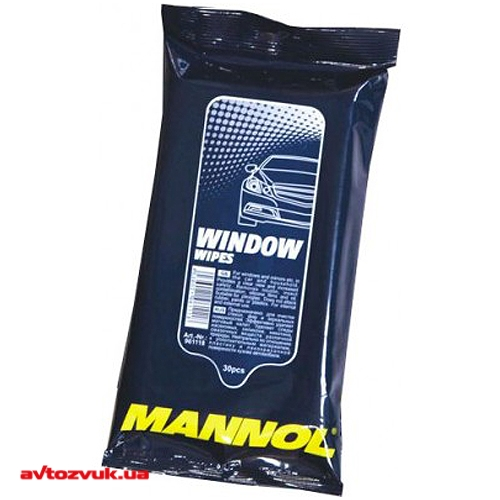 Салфетка бумажная MANNOL Glass Window Cleaning Wipes