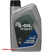 Моторное масло S-OIL DRAGON COMBO  BEST 10W-40 1л: Купить за 111 грн