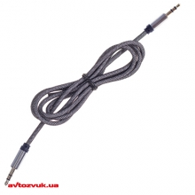 AUX (miniJack) адаптер Vitol 3,5 мм 1м TPU Classic Cable with metal connector белый AUX-000010: Купить за 32 грн