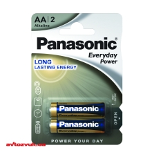 Батарейки Panasonic EVERYDAY POWER ALKALINE AA BLI 2 LR6REE/2BR 2шт./уп.: Купить за 24 грн