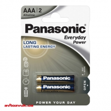 Батарейки Panasonic EVERYDAY POWER ALKALINE AAA BLI 2 LR03REE/2BR 2шт./уп.: Купить за 24 грн