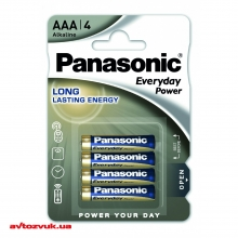 Батарейки Panasonic EVERYDAY POWER ALKALINE AAA BLI 4 LR03REE/4BR 4шт./уп.: Купить за 41 грн