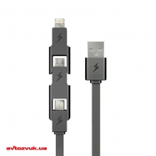 Кабель iPhone/iPod/iPad E-Power EP121DC 3в1 Lightning+microUSB+MiniUSB 2 из 4
